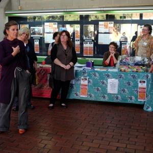 Christine Earle demonstrating presence from Daren Pope's workshop