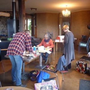 Inga Workshop - Maggie, Olga and Mary at work 11-7-15