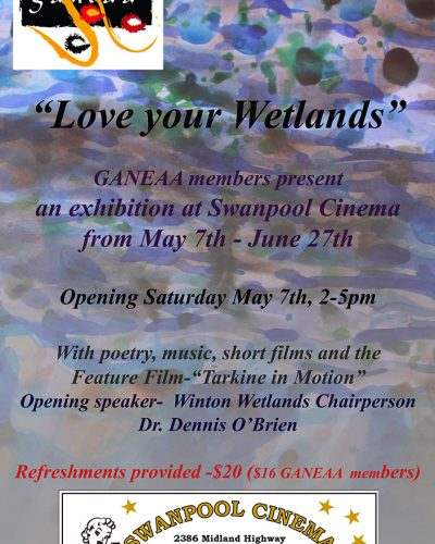 Love Your Wetlands  Exhibition and Invitation