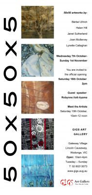 Invitation to 50 X 50 Artworks Official Opening