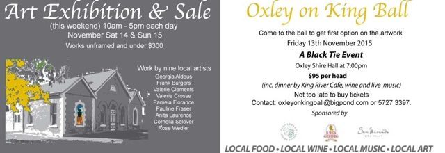Oxley on King Art Exhibition, Sale and Ball